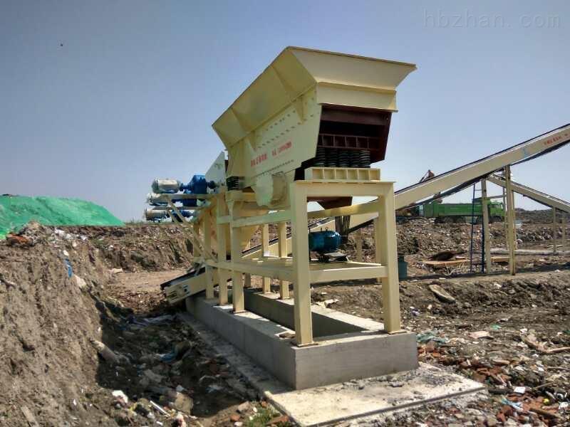 建筑垃圾筛分处理生产线由垃圾分拣破碎组成