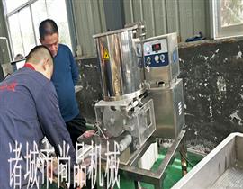 SP-100菠菜肉饼成型机 安丘菜饼子成型设备