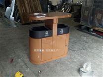 金属木纹垃圾箱 分类垃圾桶