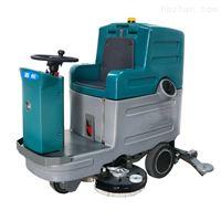 JH-135小区车库环氧地坪清洗用双刷驾驶式洗地机