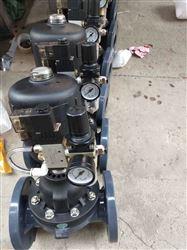 G611X-10S气动法兰PVC隔膜阀