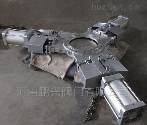 不锈钢三向开气动刀型闸阀