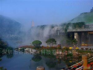 人工造雾湖泊喷雾造景工程  工程安装