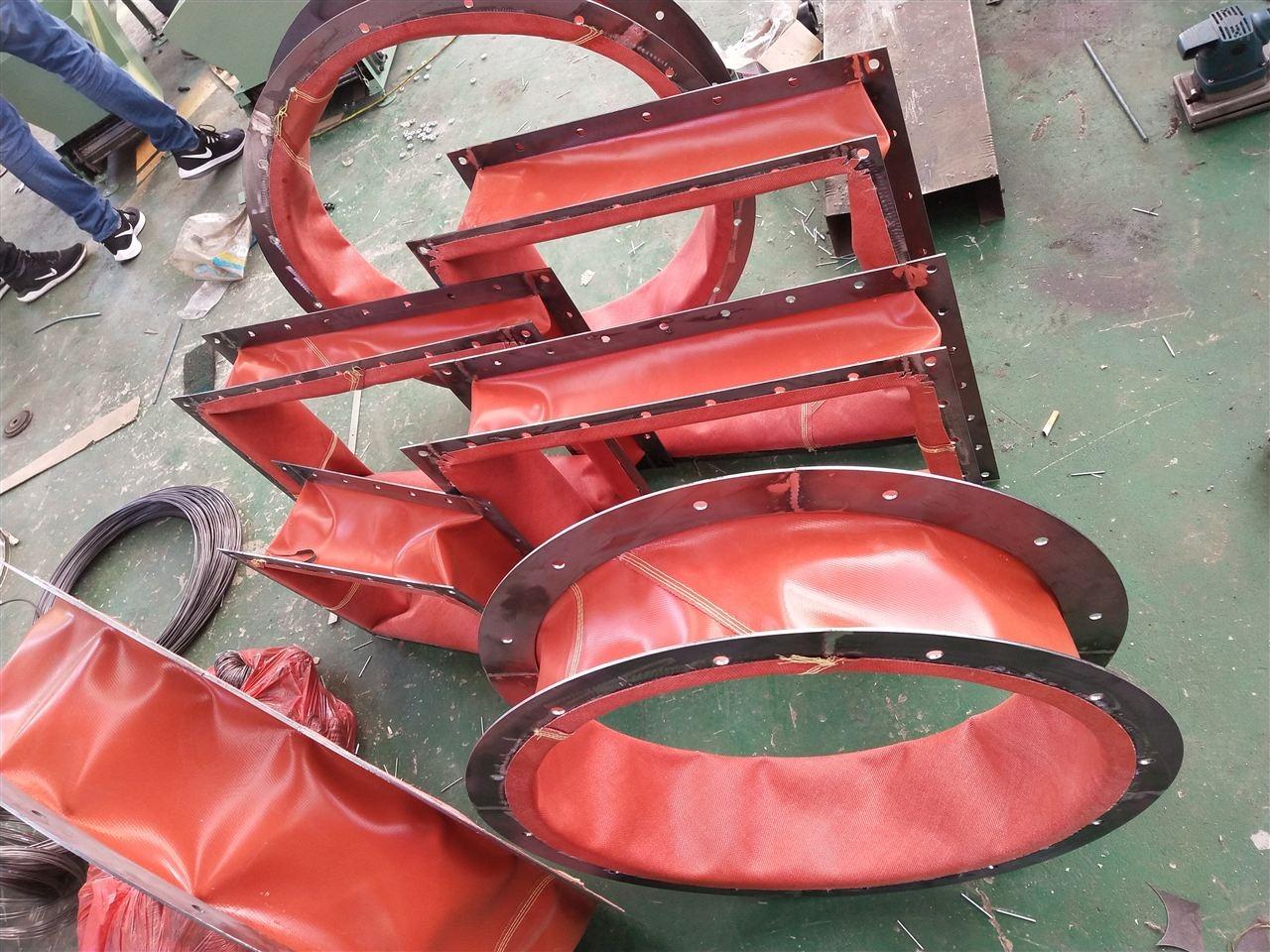 矩形帆布通风伸缩式阻燃软连接