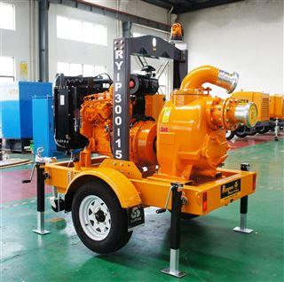 6寸康明斯柴油机移动自吸排涝泵车