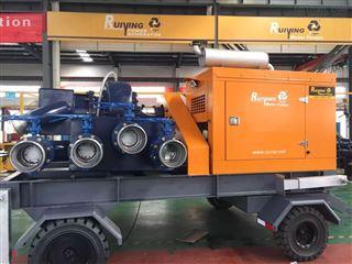 *3000方大流量移动防汛泵车