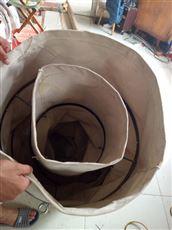 粮食除尘输送帆布伸缩布袋  耐磨适用
