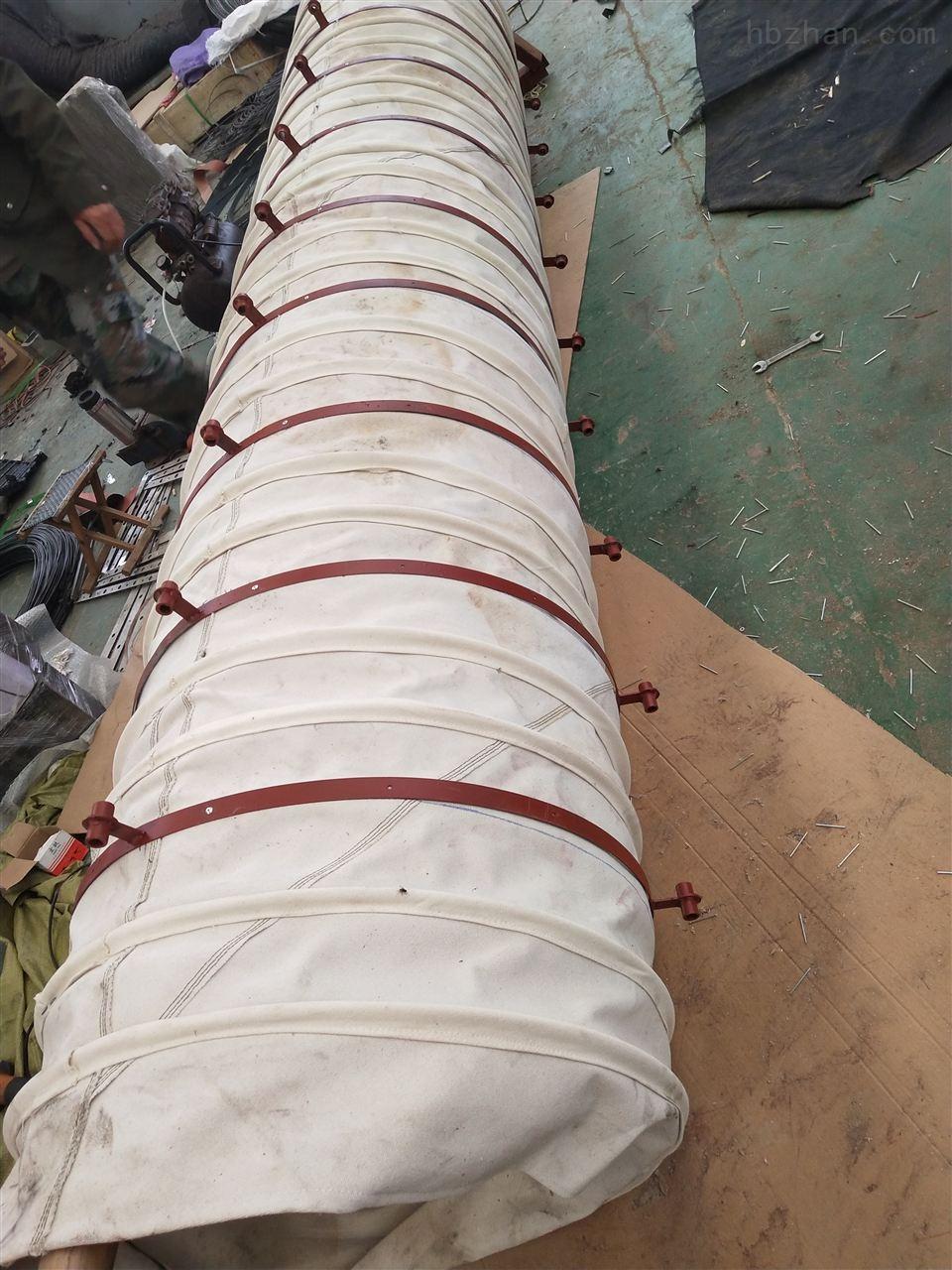干灰散装机卸料防尘输送布袋