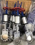 PZ6S73W气动带手轮不锈钢插板阀