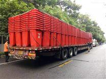 挂车带轮塑料分类240l环卫垃圾桶