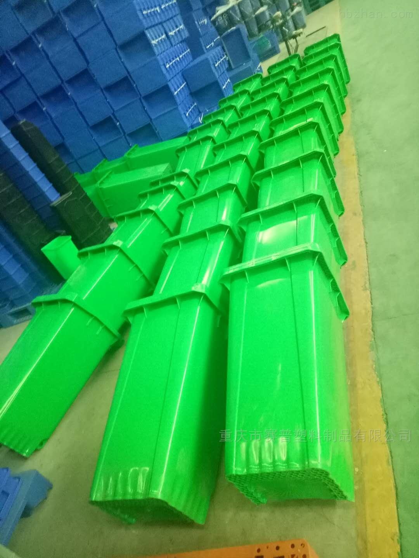 绿色泔水潲水挂车塑料分类垃圾桶