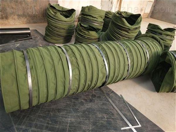 散装水泥帆布颗粒输送伸缩布袋 厂家