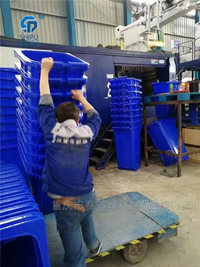 240L户外垃圾桶小区100环卫塑料垃圾筒