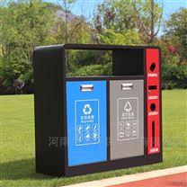 甘肃省户外钢质三分类垃圾桶生产批发厂家
