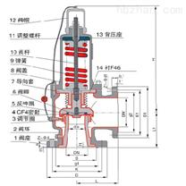 WA42F46衬氟弹簧式安全阀