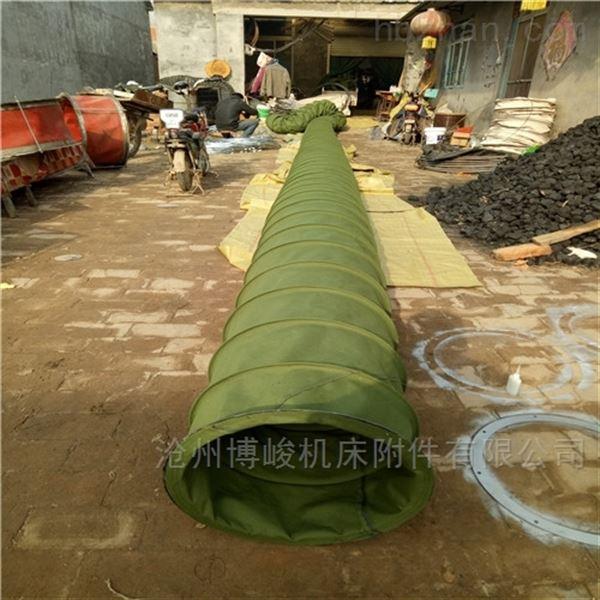 通风收尘绿色帆布伸缩布袋规格