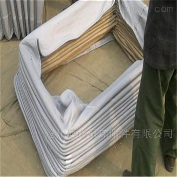 耐高温加厚帆布通风软连接规格定做