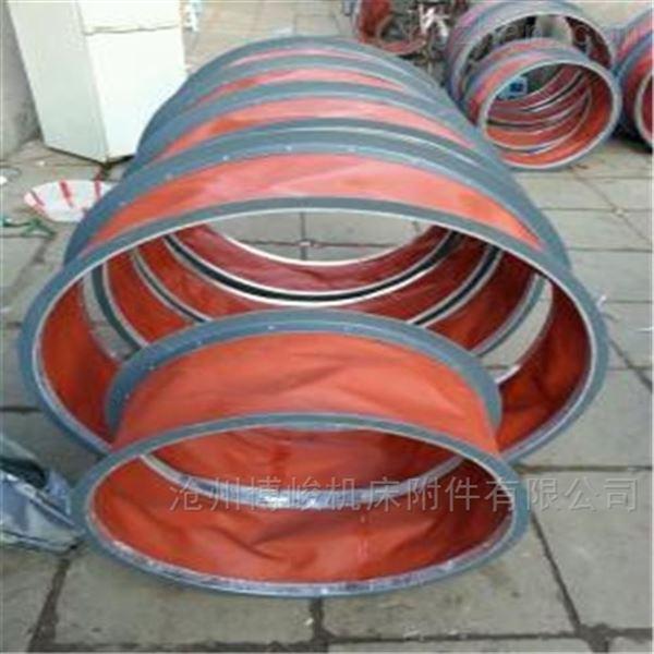 耐高温红色硅胶布通风软连接厂家