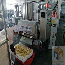 SPYZ-3500全自动豆腐串油炸机公司提供设备现场试机