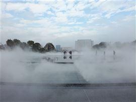 河南公园人造雾