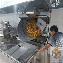 红薯片自动搅拌油炸锅糖份循环处理