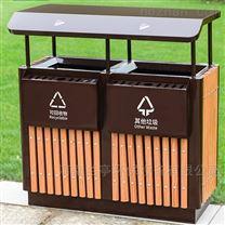 河南户外金属分类垃圾桶规格|果皮箱厂家