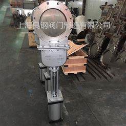 DMZ673W气动暗杆不锈钢刀型闸阀