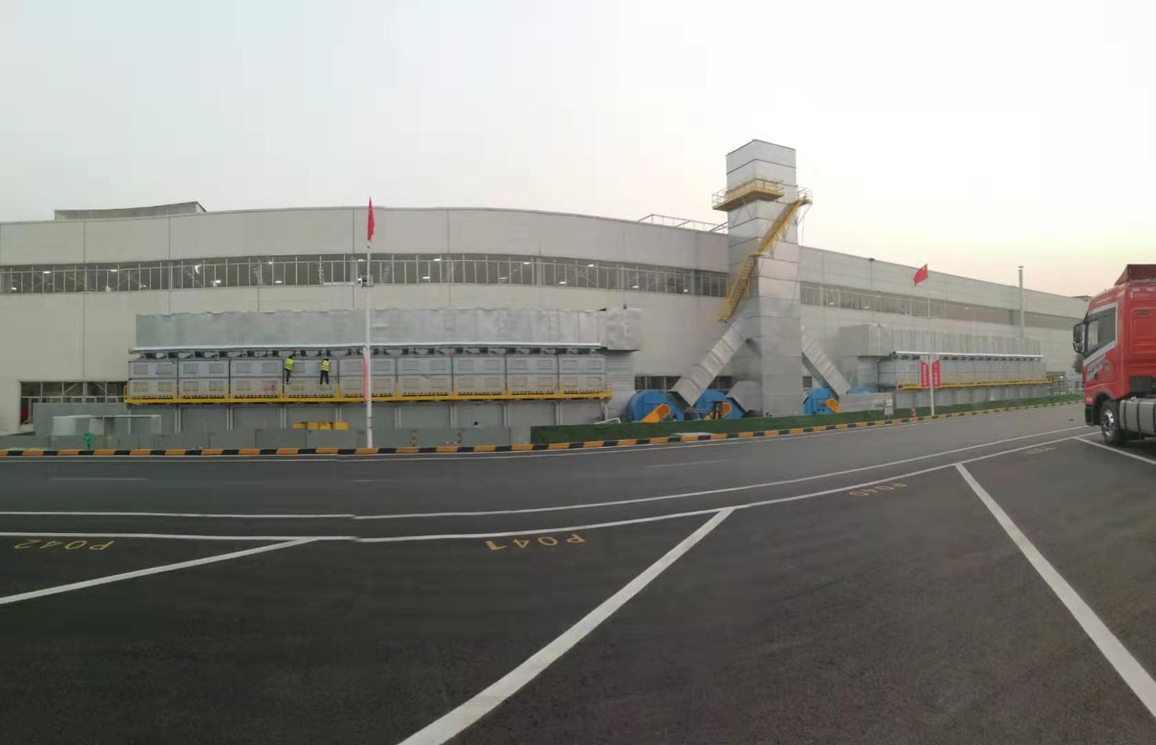 湖南重工厂家定做56万风量催化燃烧设备竣工