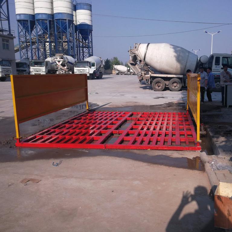 工地大门洗车槽标准做法 洗轮机标准尺寸