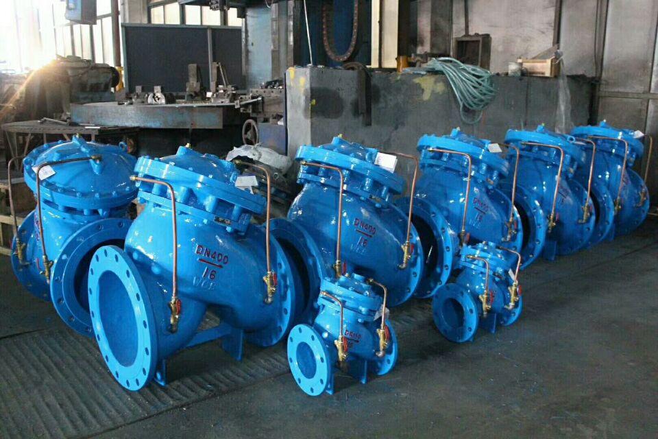 水厂多功能水泵控制阀设计原理图片