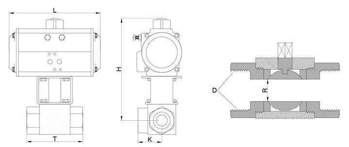 气动高压球阀结构图
