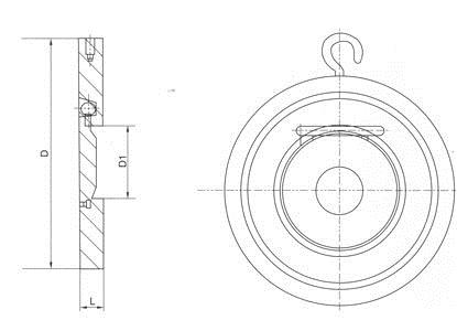 H74X塑料对夹式止回阀结构图