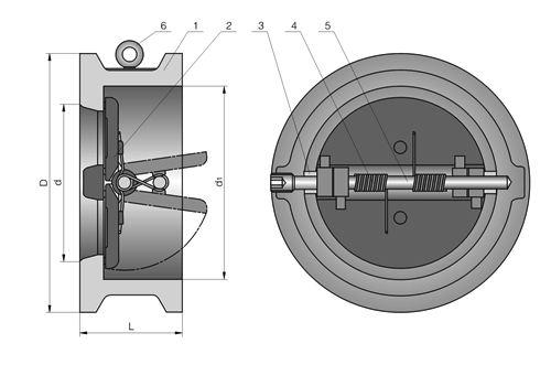 蝶形双瓣铸钢止回阀结构图.jpg