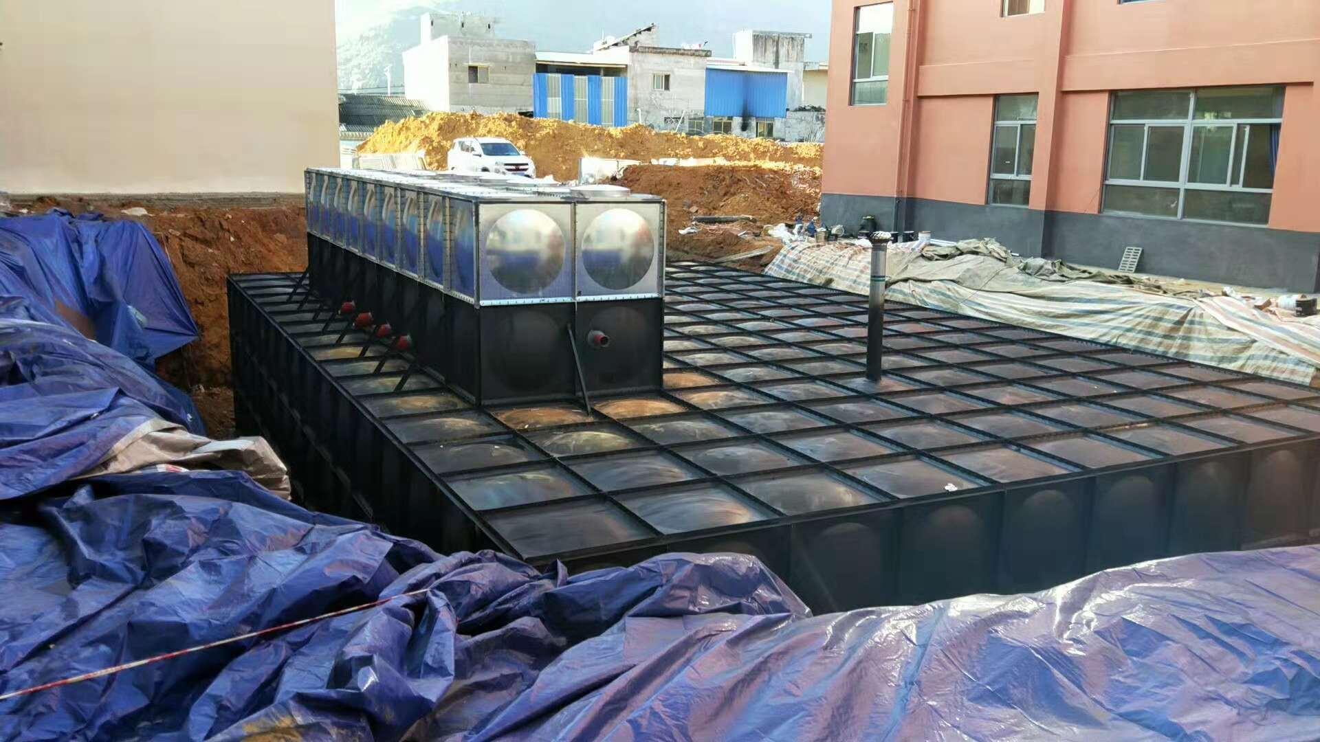 500m3地埋消防增压箱泵一体化给水设备