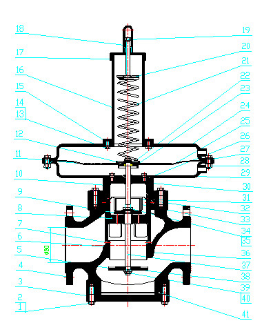 RTZ-32、50B燃气调压阀图