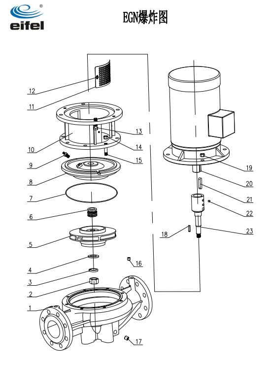 单级管道离心泵结构