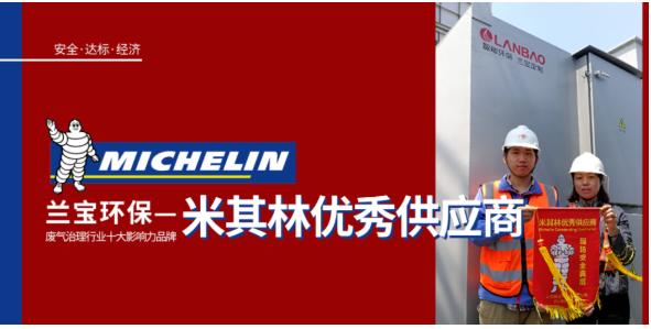 与国际伙伴为伍|米其林轮胎授予兰宝雷竞技官网手机版下载VOCs废气处理优供应商称号
