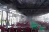 小梅沙度假村餐厅喷雾降温设备