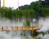 竹子公园人造雾造景工程